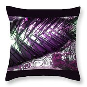Electric Violet Fish Throw Pillow