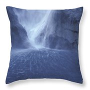Electric Water - Milford Sound Throw Pillow
