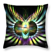 Electric Wings Throw Pillow