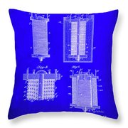 Electrical Battery Patent Drawing 1e Throw Pillow