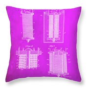 Electrical Battery Patent Drawing  Throw Pillow