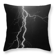 Electrical Pulsation-signed-#039 Throw Pillow