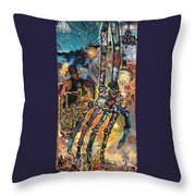 Electricity Hand La Mano Poderosa Throw Pillow