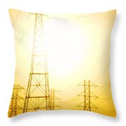Electricity Towers Throw Pillow