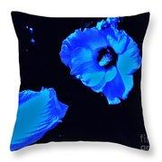 Electrifying Blue Beauty Throw Pillow