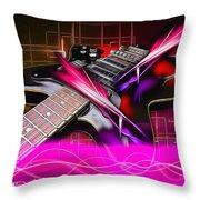 Electro Guitar Throw Pillow