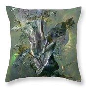 Electro Vine Throw Pillow