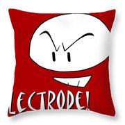 Electrode Throw Pillow