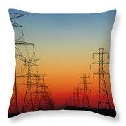 Electrodusk Throw Pillow