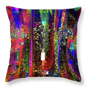 Electromagnetic Light Throw Pillow