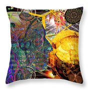 Electromagnetic Lighthouse Thirdeye Portal Throw Pillow
