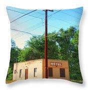 Electromagnetic Motel Throw Pillow