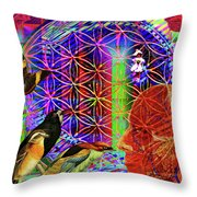 Electromagnetic  Throw Pillow