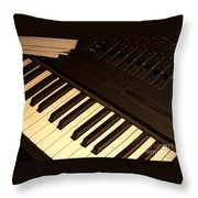 Electronic Keyboard Throw Pillow