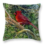 Elegance In Red Throw Pillow