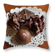 Elegant Chocolate Truffles Throw Pillow by Louise Heusinkveld