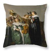 Elegant Company Making Music Throw Pillow
