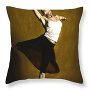 Elegant Dancer Throw Pillow