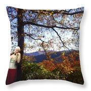 Elegant Fall Throw Pillow