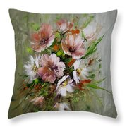 Elegant Flowers Throw Pillow