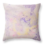 Elegant Hand Made Ink Design In Purple And Yellow Throw Pillow