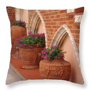 Elegant Italian Florals Throw Pillow
