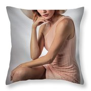 Elegant Johanna In Peach Throw Pillow