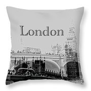 Elegant London Throw Pillow