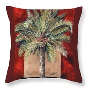 Elegant Palm Throw Pillow