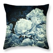 Elegant Peonies Throw Pillow