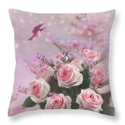Elegant Roses-1 Throw Pillow