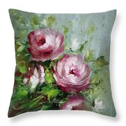 Elegant Roses Throw Pillow