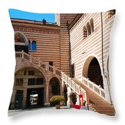 Elegant Scala Della Ragione - Verona Italy Throw Pillow