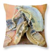 Elegant Treasures From The Sea Throw Pillow