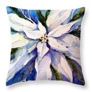 Elegant White Christmas Throw Pillow