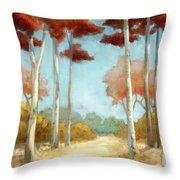 Elegantredforest Throw Pillow