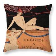 Elegies A Mytilene Throw Pillow