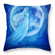 Elemental Earth Angel Of Water Throw Pillow