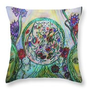 Elemental Love Throw Pillow