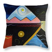Elements Of Light Throw Pillow