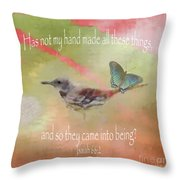 Elements Of Nature - Verse Throw Pillow