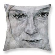 Unknown, Portrait Throw Pillow