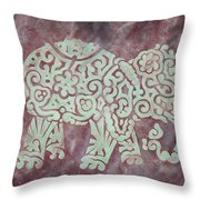 Elephant - Animal Series Throw Pillow by Jennifer Kelly