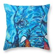 Elephant #3 Throw Pillow