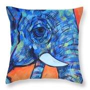Elephant# 6 Throw Pillow