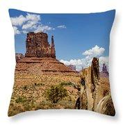 Elephant Butte - Monument Valley - Arizona Throw Pillow
