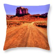Elephant Butte Monument Valley Navajo Tribal Park Throw Pillow