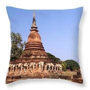 Elephant Chedi Historical Place Throw Pillow