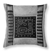 Elephant Crabs B W Throw Pillow