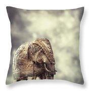 Elephant Figure Throw Pillow
